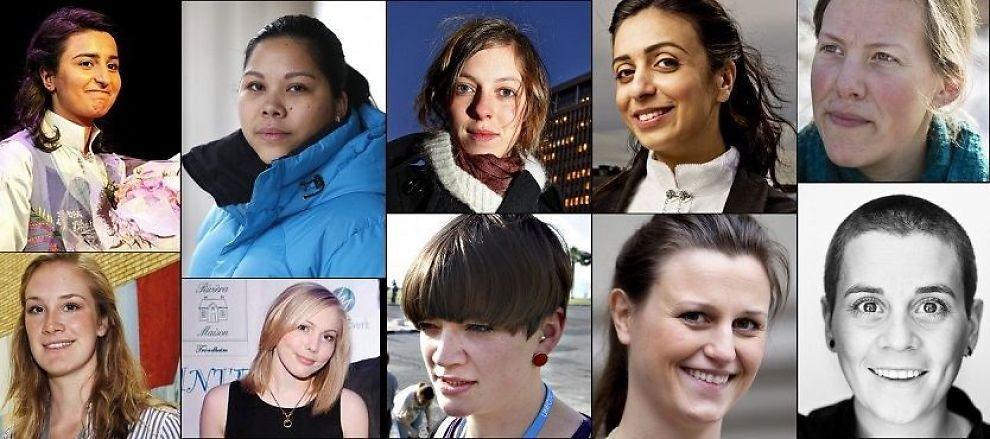 FREMTIDENS FORBILDER: Her er kvinnene Inga Marte Thorkildsen og Julie Brodtkorbs utpeker som fremtidens kvinnelige forbilder.
