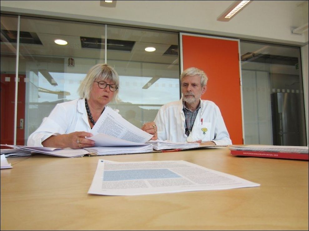 ADVARER: Lege Anne-Lise Bjørke Monsen og overlege Bjørn Bolann er kritiske til at barn og gravide kvinner spiser oppdrettslaks. Foto: MARCUS HUSBY