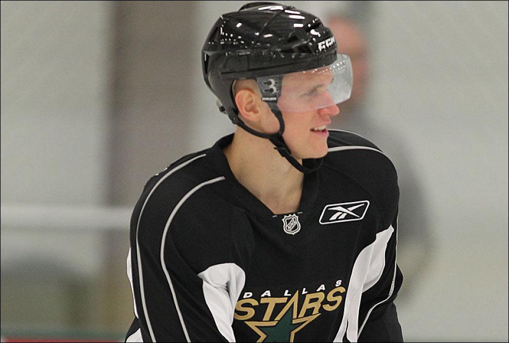 LOVENDE: Scott Winkler, her i Dallas Stars, beskrives som et av landets mest lovende ishockeytalenter. Winkler ble bare 23 år gammel. Foto: Dalls Stars