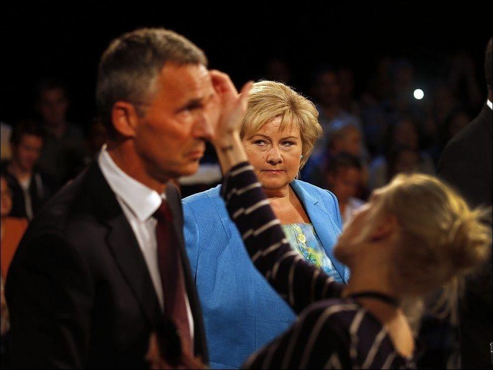 STÅR KLAR: Erna Solberg håper å ta over som statsminister etter Jens Stoltenberg. Foto: Hallgeir Vagenes