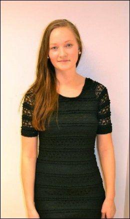 DREPT: Sigrid Giskegjerde Schjetne (16). Foto: Privat