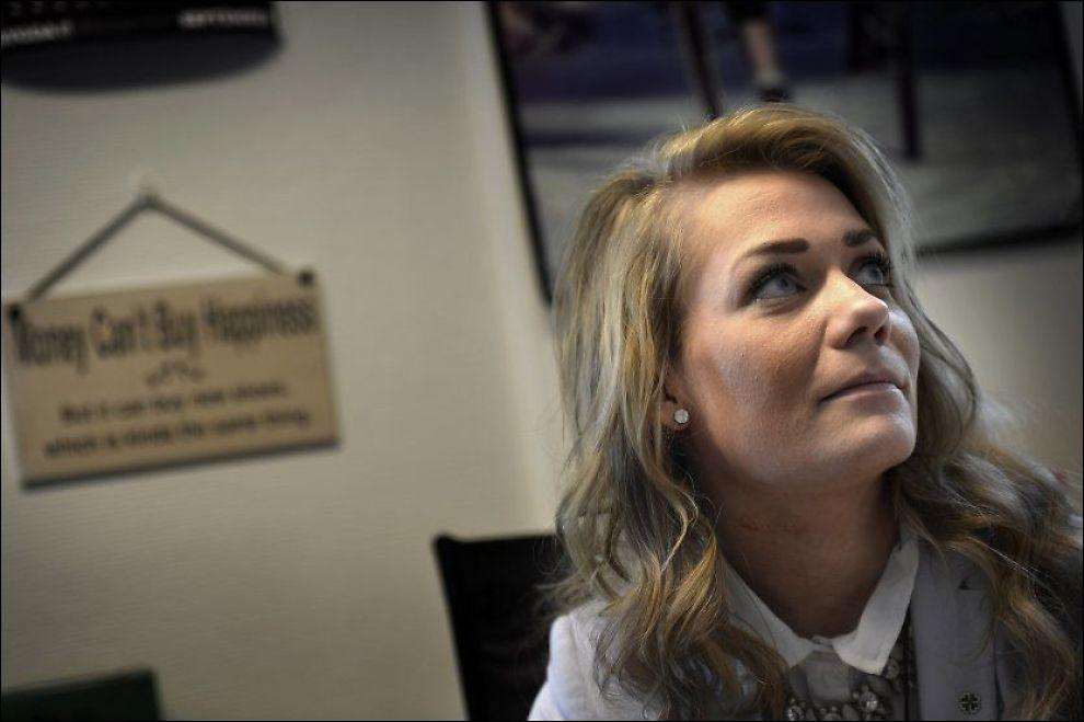 FERDIG: Spu-leder Sandra Borch møter VG på kontoret sitt ettter å ha sagt nei til gjenvalg. FOTO: HARALD HENDEN/VG