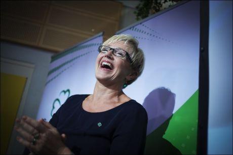 FEIRET: Sp-leder Liv Signe Navarsete under partiets valgvake på mandag. FOTO: KYRRE LIEN / VG