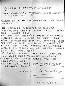 FALSKT: VG avslørte at Mustafa-brevet var falskt. Foto: Bent Ramberg/Scanfoto.