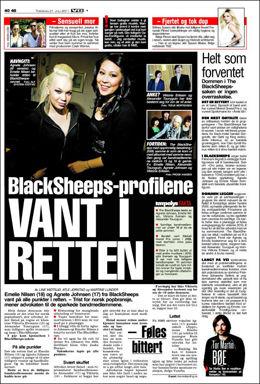 FAKSIMILE: 21. juli 2011 ble det klart at Blacksheeps-profilene hadde vunnet i retten.