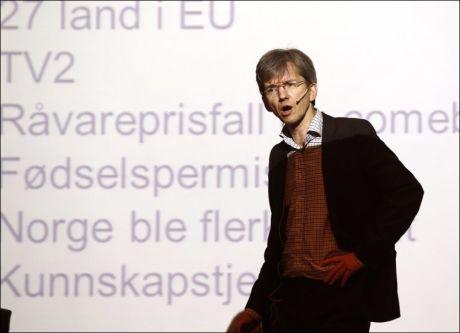 FOTO: Paul Chaffey kommer fra jobben som leder i NHO-organisasjonen Abelia. FOTO: LISE ÅSERUD/NTB SCANPIX