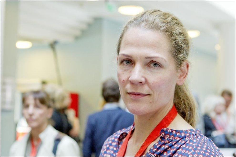 FULGTE RETTSSAKEN: Åsne Seierstad, her under nest siste dag i rettssaken mot Anders Behring Breivik i Oslo tingrett. Foto: Scanpix