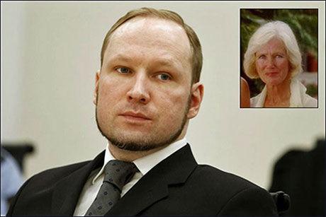 MOR OG SØNN: Moren til Anders Behring Breivik, Wenche Behring Breivik (innfelt), døde på en helseinstitusjon i mars i år. FOTO: Scanpix/Privat Foto: