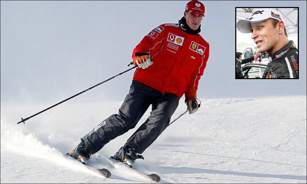 TRAGISK: Petter Solberg krysser fingrene for at det går bra med Michael Schumacher etter den tragiske skiulykken søndag. Her et bilde av Schumacher fra 2004. Foto: AFP/NTB Scanpix