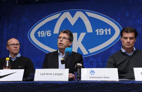 GLADE: Tarje Nordstrand Jacobsen (fra venstre), Leif Arne Langøy og Øystein Neerland. Foto: Hugo Tingvoll