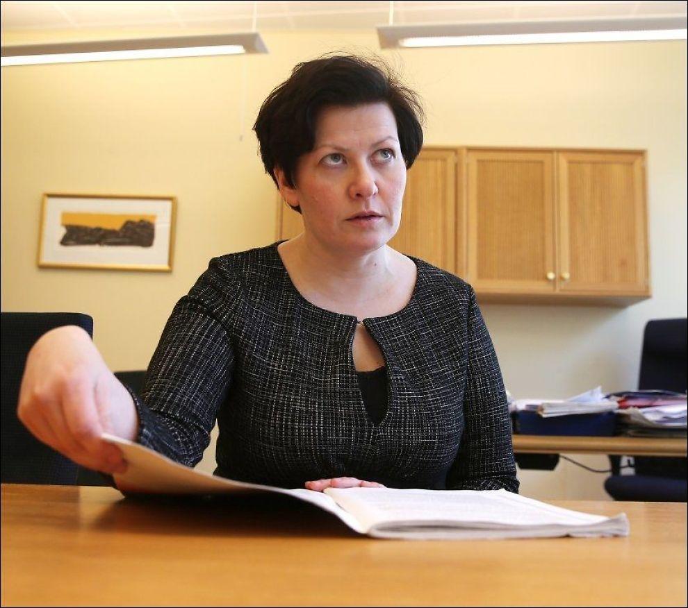 ANGRET SEG: Helga Pedersen påstod at hun brukte mye av sin tid på å sverte regjeringen, men søndag beklaget hun uttalelseene. Bildet er tatt ved en annen anledning. Foto: TROND SOLBERG