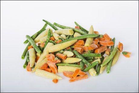 MYTE: Frosne grønnsaker har mindre næringsinnhold enn ferske grønnsaker. FOTO: Frode Hansen.