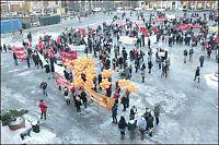 Over 10.000 personer gikk i 8. mars-toget i Oslo