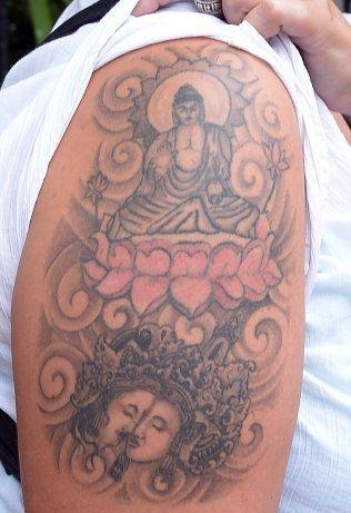 TRØBBEL: Denne tatoveringen ble ikke godt motatt på Sri Lanka Foto: Afp