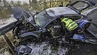 Northugs bil totalvraket i ulykke