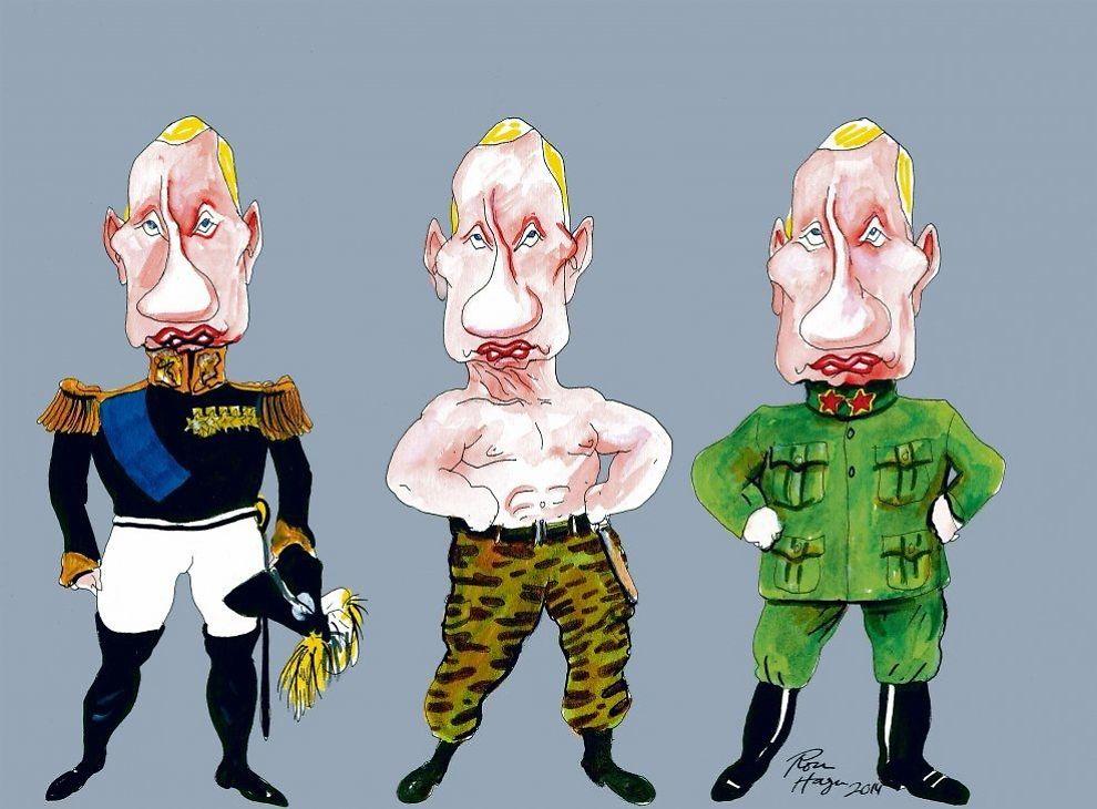 KULTUR: - Forslaget til ny kulturpolitikk er et forsøk på ytterligere å styrke det president Vladimir Putin kaller «patriotisme», men som bare så altfor lett kan slå over i aggressiv nasjonalisme, skriver Peter Normann Waage. Tegning: ROAR HAGEN.