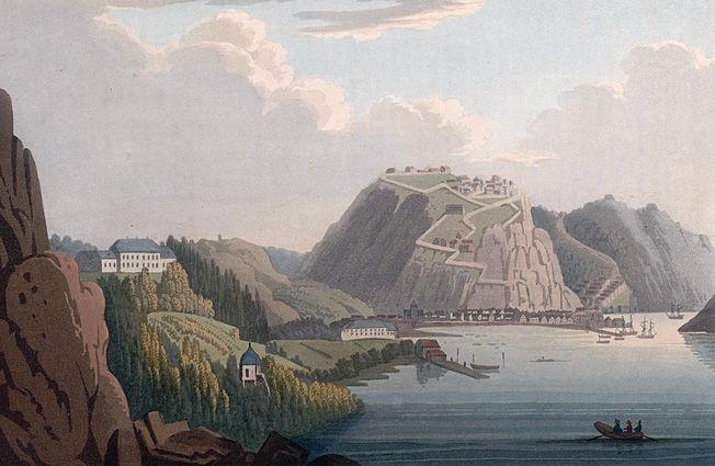 SPIONERTE I FREDRIKSHALD: Charles Gordon var aktiv i Fredrikshald, dagens Halden, og Fredrikstad. Foto: Maleri av John William Edy