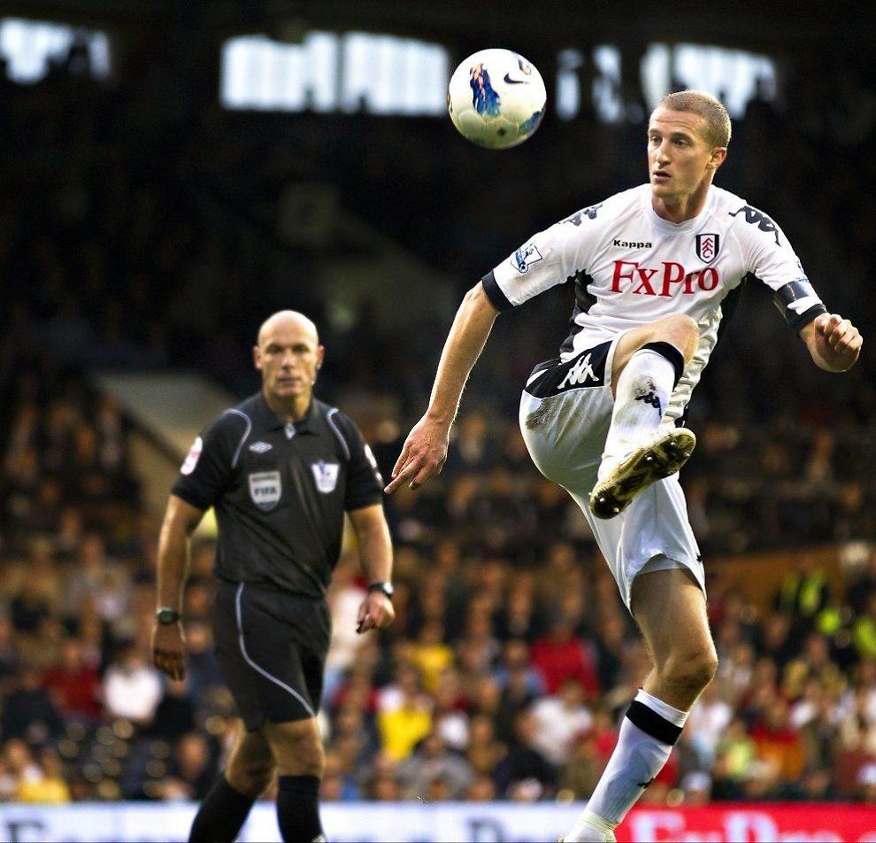 NY KLUBB: Brede Hangeland har spilt sin siet kamp for Fulham. Men han spiller kanskje for en annen klubb i Premier League til høsten. Foto: Fredrik Solstad