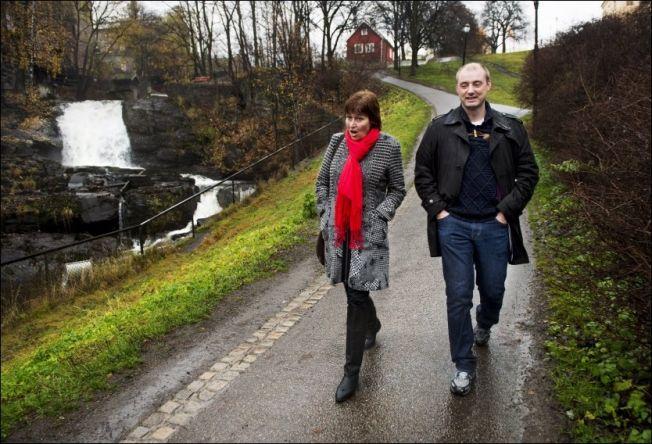 <p>TURKAMERATER: LO-leder Gerd Kristiansen og arbeids- og sosialminister Robert Eriksson (Frp) innledet samarbeidet med en gåtur langs Akerselva etter valget i høst. Nå er forholdet mer anstrengt.</p>