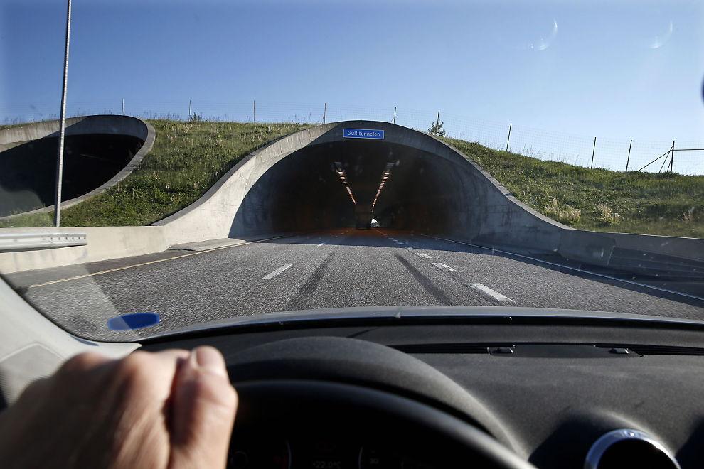 <p>ØKER: Fredag kan du kjøre fortere flere strekninger. En av strekningene som får økt hastighet er Kopstad-Gulli på E18. Dette bildet fra Gullitunnelen er tatt i en annen sammenheng. FOTO: TROND SOLBERG/VG</p>