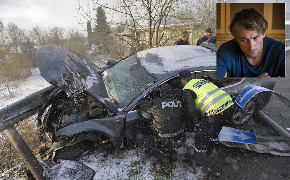 <p>HER STARTET ETTERFORSKNINGEN: Petter Northug kjørte selv bilen sin som endte i autovernet tidlig morgen søndag 4.mai. Northug (innfelt) innrømmet samme dag at han hadde promillekjørt. Foto: Henrik Sundgård - Sundgård Media/Scanpix/Øyvind Nordahl Næss-VG</p>
