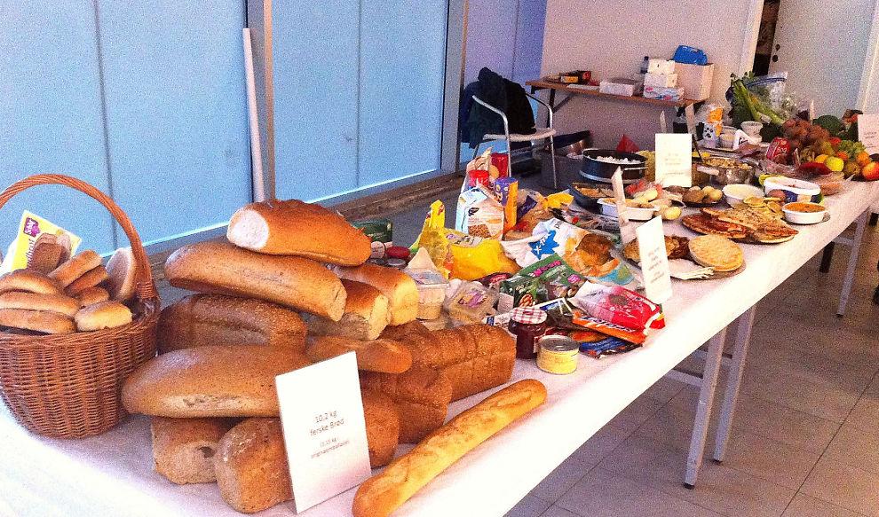 <p>«DE RIKES BORD»: Dette bugnende bordet viser nøyaktig hvor mye en gjennomsnittlig nordmann kaster av mat i løpet av et år.<br/></p>