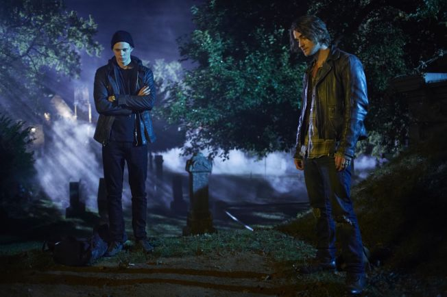 "<p> SEASON PREMIERE: Bill Skarsgård (left) and Landon Liboiron has a starring role in ""Hemlock Grove"" season 2 <br/> </ p>"