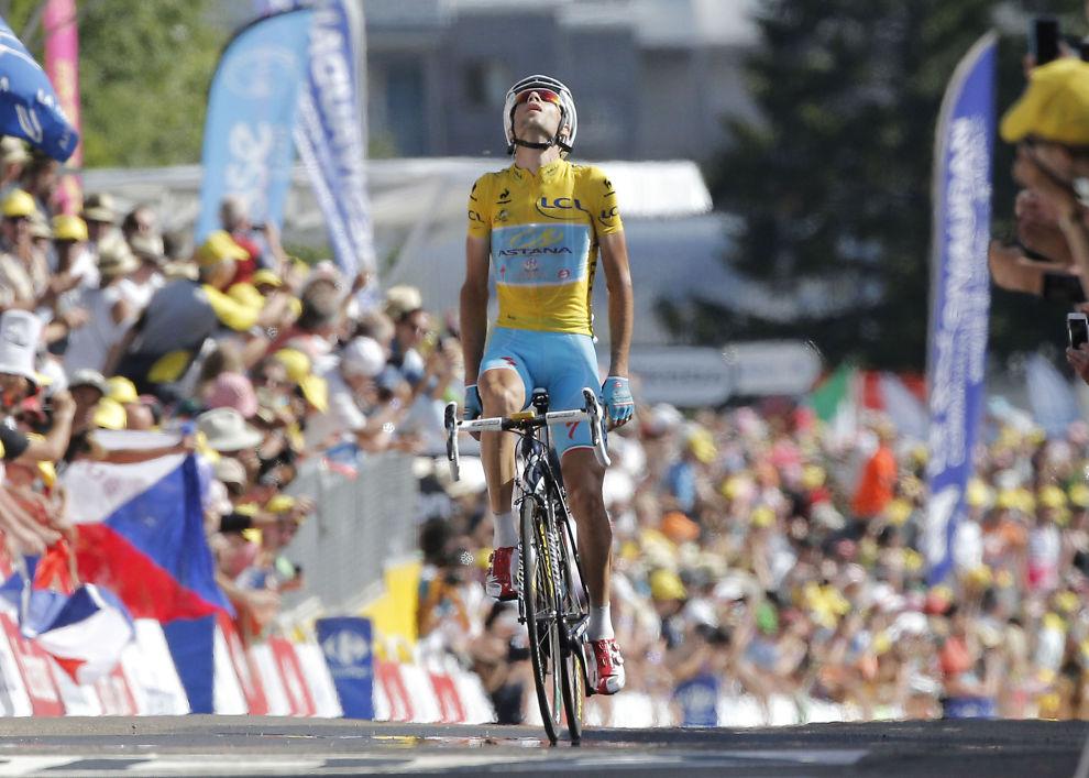 VANT: Vincenzo Nibali viste styrke på den 13.etappen av Tour de France i går.