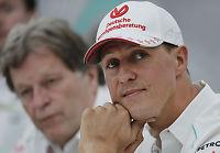 Hevder Schumacher kommuniserer med blunking