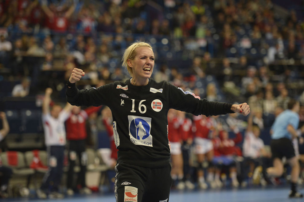 PAUSE: Katrine Lunde er gravid og tar seg dermed en håndballpause.