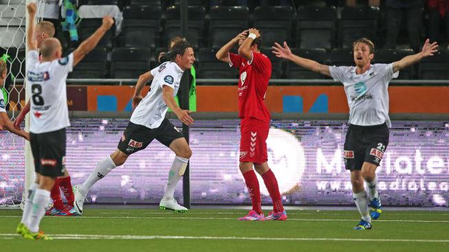 <p>FIKK FEIRE: Odds Frode Johnsen jublet da han og lagkameratene kom tilbake i kvartfinalen og vant 3-1 mot Brann, torsdag.<br/></p>