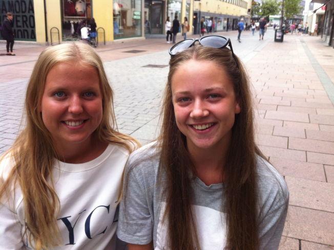 <p>SIER SJØTT: Siri Aamodt (17) har ingen problemer med at venninnen Helene Skar Andgard (17) (til høyre) sier sjøtt og ikke kjøtt. VG møtte de to Lier-jentene i gågata i Drammen.</p>