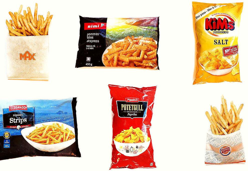<p>HELSERISIKO: Forbrukerrådet har fått analysert et utvalg av potetprodukter fra burgerkjeder og dagligvarekjeder. Testen viser at pommes frites og potetchips fortsatt inneholder for mye av det kreftfremkallende stoffet akrylamid.<br/></p>
