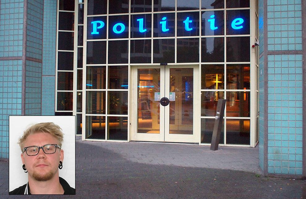 <p>MELDTE SEG HER: Ved hovedpolitistasjonen i Rotterdam i Nederland dukket drapssiktede Kim Andreas Kristiansen (23) opp ved 13-tiden mandag.<br/></p>