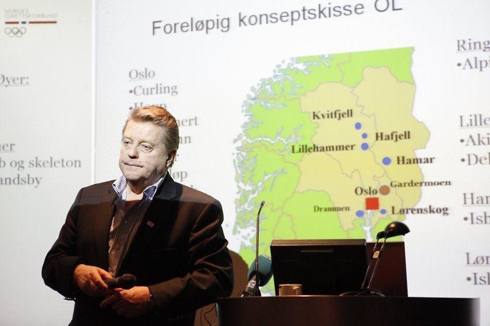<p>DÅRLIG TID: Idrettspresident Børre Rognlien og resten av ja-siden vet i løpet av få uker om regjering og storting støtter et OL i Oslo i 2022. Her er Rognlien på et informasjonsmøte om lekene i 2012.<br/></p>