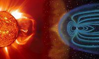 Solstorm på vei mot jorden
