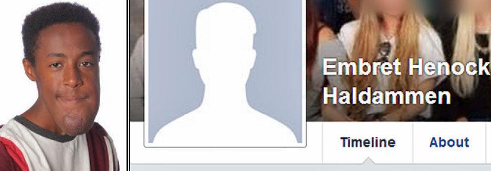 <p>FØR OG ETTER: Embret Henock Haldammen har hatt bildet til venstre som profilbilde på Facebook. Søndag morgen var bildet fjernet fra profilsiden hans.</p>