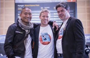 <p>VED GODT MOT: Tay-young Pak, Gunnar Garfors og Øystein Djupvik har stor tro på at de skal slå verdensrekorden denne gangen.<br/></p>