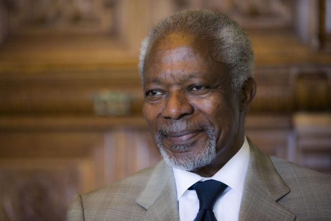 MULIG KANDIDAT: Tidligere generalsekretær i FN, Kofi Annan, har blitt nevnt som en potensiell kandidat til den norske Nobelkomiteen.