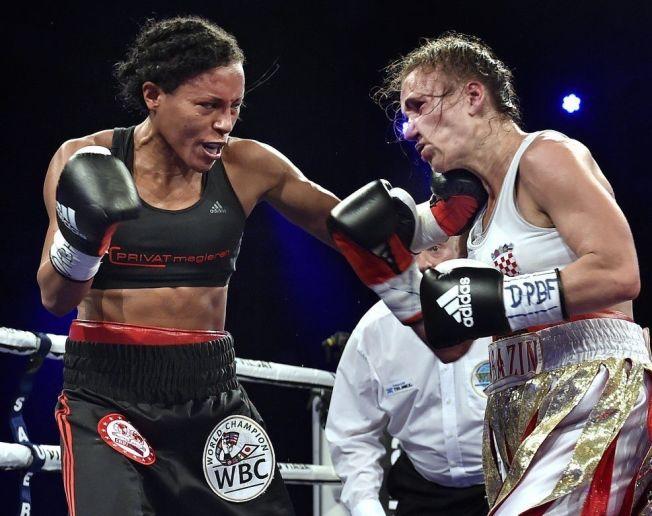 VERDENS BESTE KVINNEBOKSER: Cecilia Brækhus befestet sin posisjon som verdens beste kvinnebokser da hun slo Ivana Habazin i København i september. Nå kan hun snart få bokse i Norge.