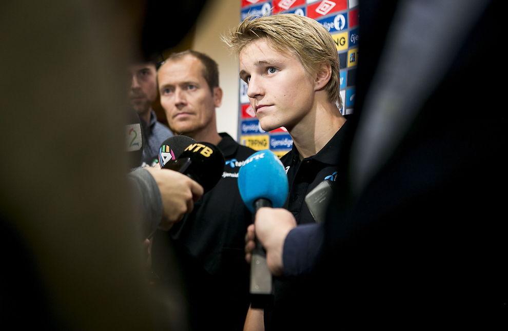 <p>POPULÆR: Martin Ødegaard, her fra landslagssamlingen, er en populær gutt. Han er nemlig på ønskelisten til nesten alle de største europeiske klubbene.<br/></p>