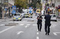 Bombetrussel mot banker i Stockholm sentrum