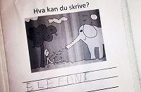 1. klasse-elever fikk penis-tegning med hjem i lekse