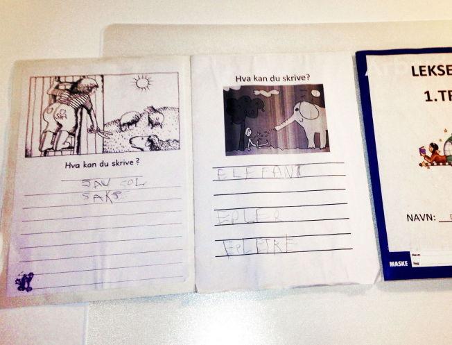 <p>HYGGELIGE BILDER: De fleste bildene i lekseboka til førsteklassingene har vært helt vanlige, som illustrasjonen til venstre.<br/></p>