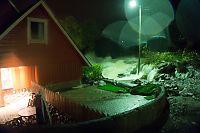 Fem hus tatt av flom i Odda