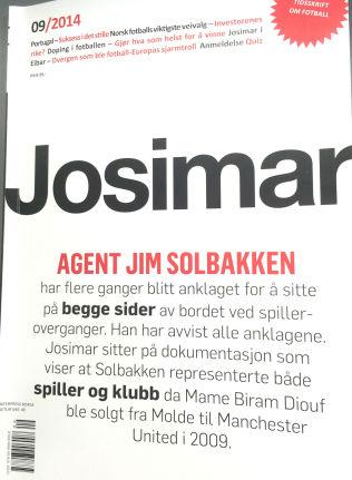 <p>FOTBALLBLAD: Det er i siste utgave av fotballbladet Josimar påstandene om Jim Solbakken kommer.<br/></p>