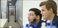 Her sjekkes Carlsen og Anand for jukse-dingser