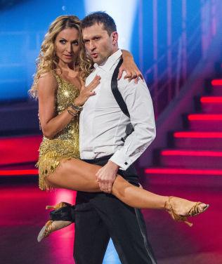 <p>BLE NUMMER TO: Roar Strand og dansepartner Nadya Khamitskaya.</p>