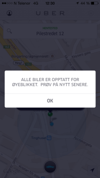 VG ventet over to timer på Uber
