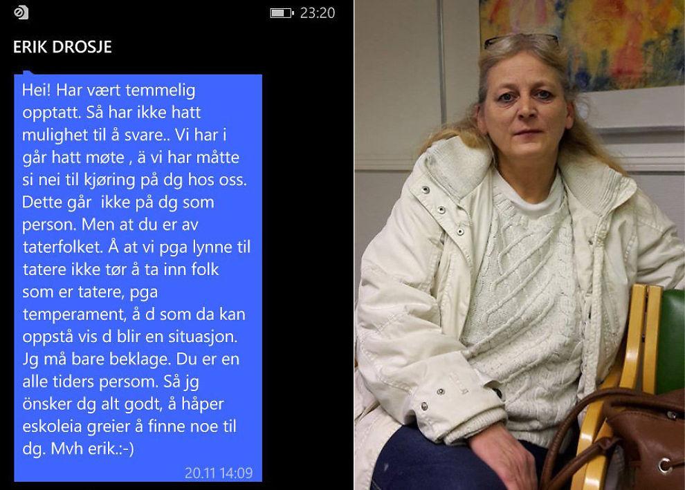 <p>SKARP MELDING: Denne meldingen fikk Mona Gustavsen til å reagere.</p>